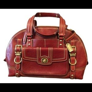 Coach Miranda Hamptons leather domed satchel 11085